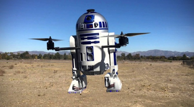 Aerial Imaging Dudes Marries R2-D2 With A DJI Drone, Makes It Fly With Working Camera