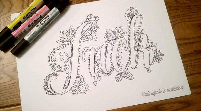 Sweary Coloring Book by Pixie Rah Designs
