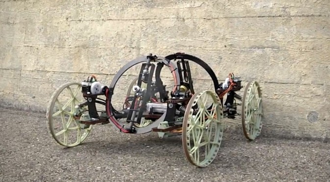 Disney's Robot Car Has Tilting Rotors, Tackles Walls By Scaling It