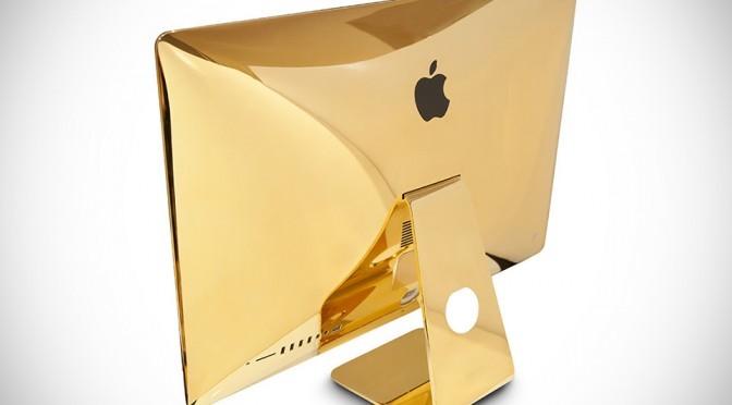 24K Gold 27-inch iMac with Retina 5K Display by Goldgenie