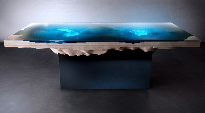 Abyss Dining Table: Be Mesmerized By 3D Bathymetric Map As You Eat