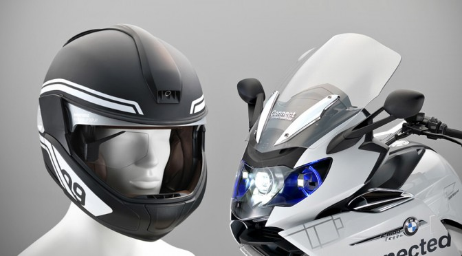 BMW K 1600 GTL Concept and Head-up Display Helmet at CES
