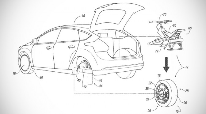 Ford Proposed Turning The Car's Rear Wheel Into A Monocycle