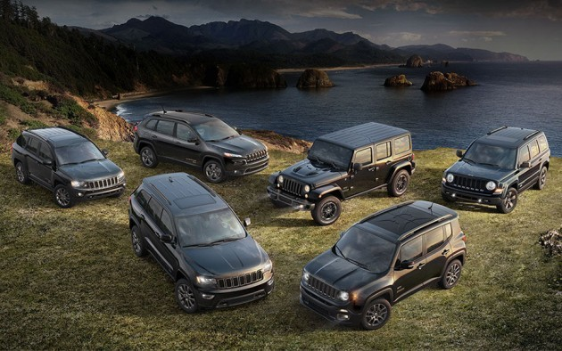 Jeep 75th Anniversary Special Edition Models