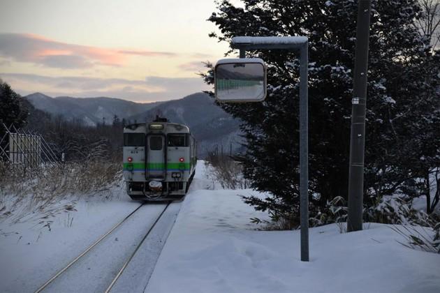 Kami-Shirataki Train Station in Hokkaido by supersoya