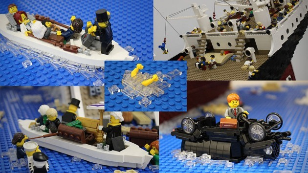 LEGO Sinking Titanic by Ryan McNaught
