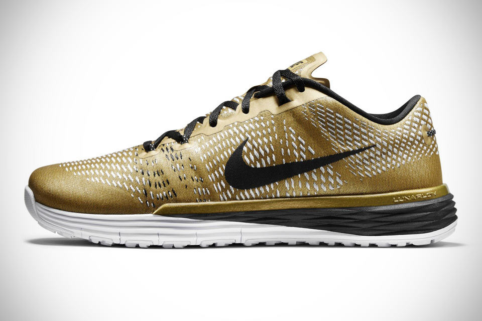 Nike Running Shoes With Gold Swoosh