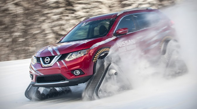 Nissan Gave Rogue Snow Mountain Climbing Ability With Snow Tracks