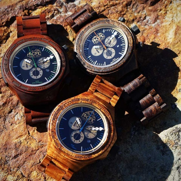 Oceania Wood Chronograph Watch by Pacific Standard Time Company