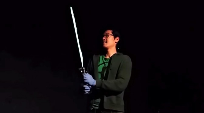 Real Burning Lightsaber by Allen Pan