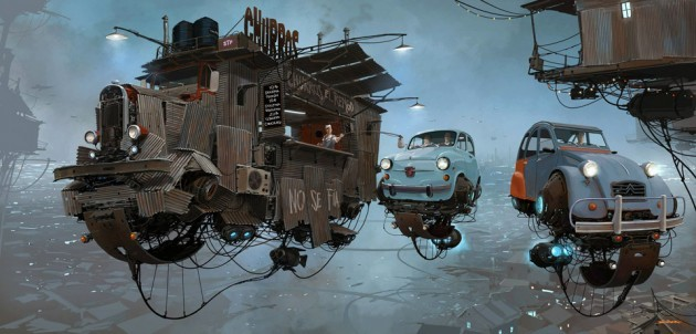 Scrap Metal Universe Series By Alejandro Burdisio Is Where Dodge Flies And Gas Station Hovers ...