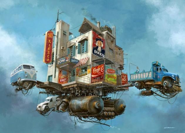 Universo Chatarra (Scrap Metal Universe) - Flying mercadito La Chona