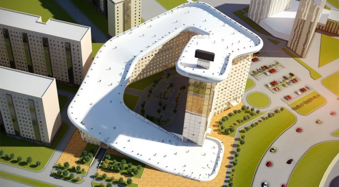 Kazakhstan May Get A Residential High-Rise With Integrated Ski Slope