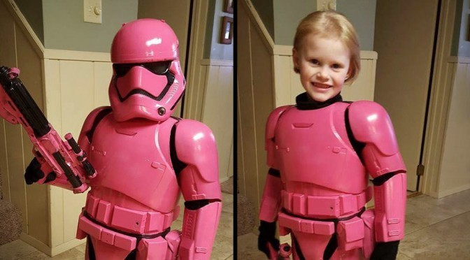 "48"" Pink Storm Trooper Costume by Jim Brock"
