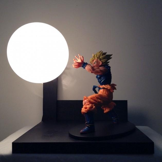 Custom Dragon Ball Z Lamp With Light Up Spirit Bomb Is