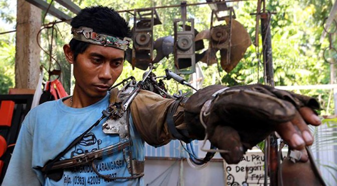Indonesian Man Tawan's Mind-controlled Robotic Arm