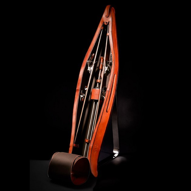 Luxury Skis by Foil Skis Fine Leather Traveler Bag