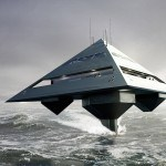 Pyramid-shaped Yacht Looks Like Star Destroyer Flying Above The Water