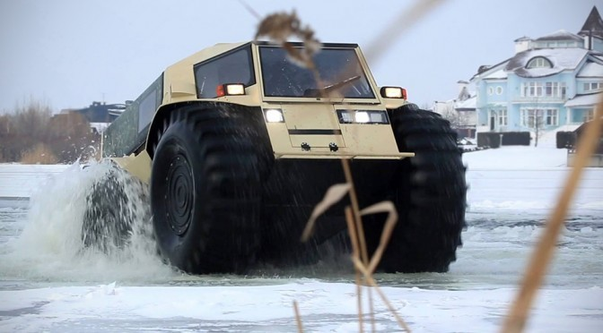 A Lake Is Not Going To Stop This Russian Made Sherp ATV From Going Places