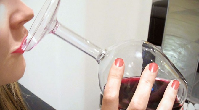 This Upside Down Wine Glass Will Make You Question Your Sobriety