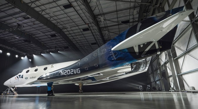 Virgin Galactic SpaceShip Two VSS Unity Unveiled By Sir Richard Branson