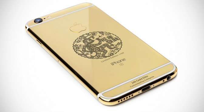 """Year of the Monkey"" 24K Gold iPhone 6s Elite by Goldgenie"