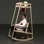 This Rocking Chair Uses Kinetic Motion To Knit A Hat As You Idly Rocks On It