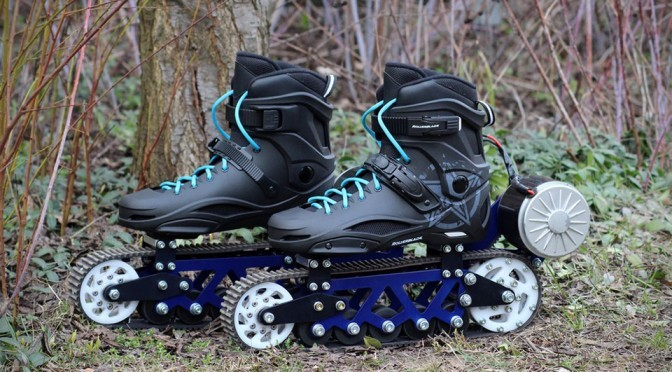 Polish Man Creates Motorized Rollerblades With Off-Road Capability