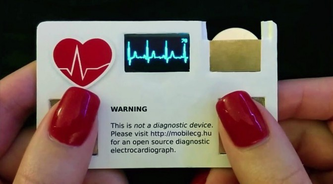 MobileECG 'Toy' Business Card With ECG