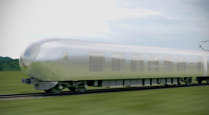 Japanese Architect Proposed Trains That Disappear Into The Environment