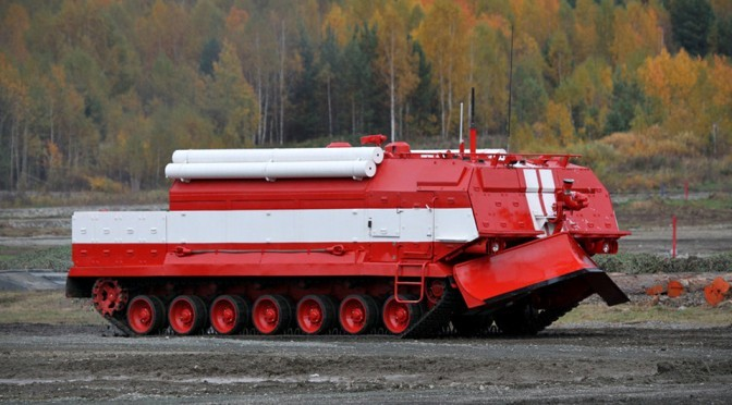 Russia's First Armored Fire Truck Has T-72 and T-80 Tanks' DNA In It