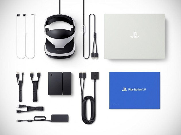 Playstation VR Headset package content