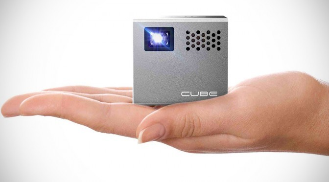 The Cube Mobile Projector Is 2-inch Tiny But Puts Out 120-inch Projection