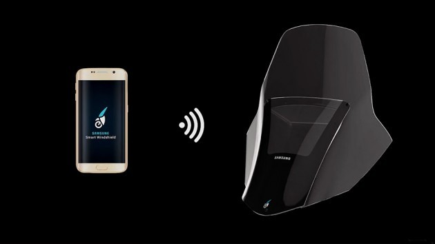 Samsung Motorcycle Smart Windshield