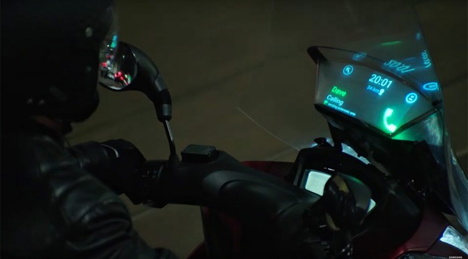 Samsung Smart Windshield Is The Head-up Display For Motorcycle