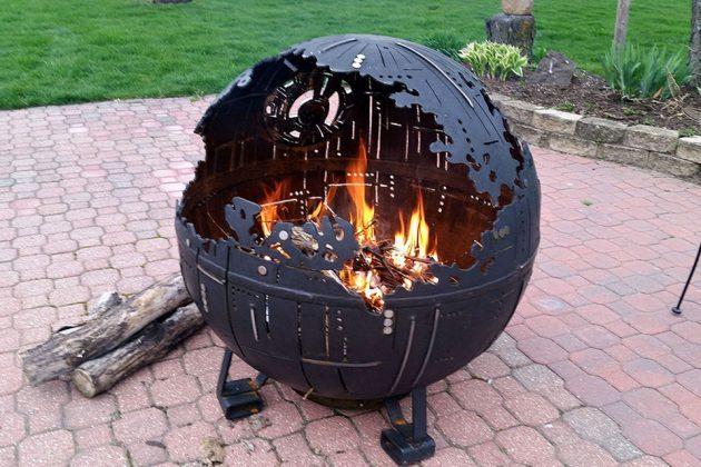 Death Star Fire Pit Made From High School Welding Class