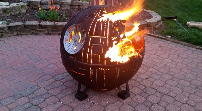 Death Star Fire Pit Made From High School Welding Class