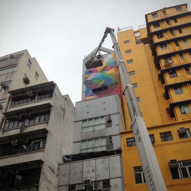 Geometric Bear Wall Art by Okuda San Miguel