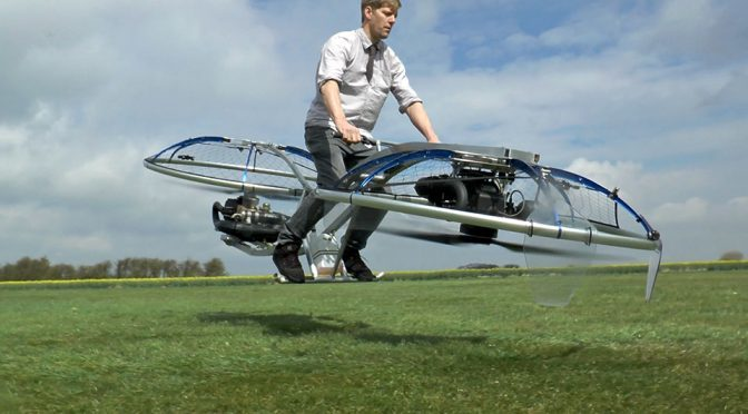 The Mad British Inventor Is At It Again, This Time He Made A Working Hoverbike