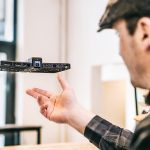 Hover Camera Drone Looks Like A Piece of Flying Oblong Slat