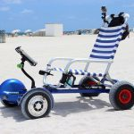 Hoverboard Cart Turns Hoverboard Into A Mobile Beach Throne
