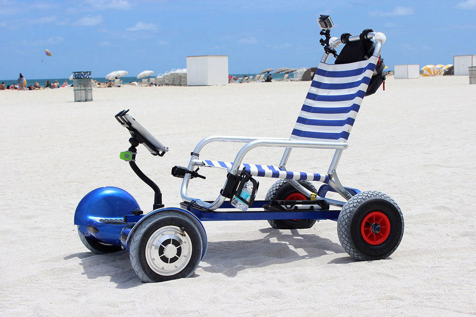 Hoverboard Cart Turns Hoverboard Into A Mobile Beach