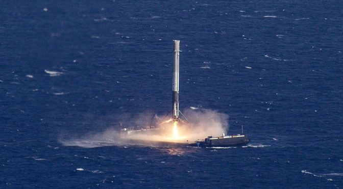 SpaceX Falcon 9 Rocket Lands On Droneship