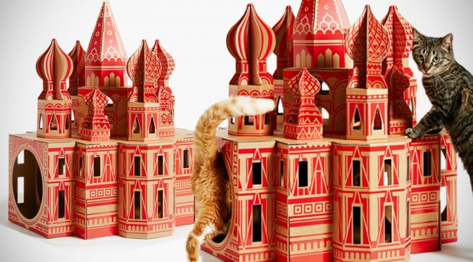 "Iconic Landmarks-inspired Play Houses Let Your Cat ""Roams The World"""
