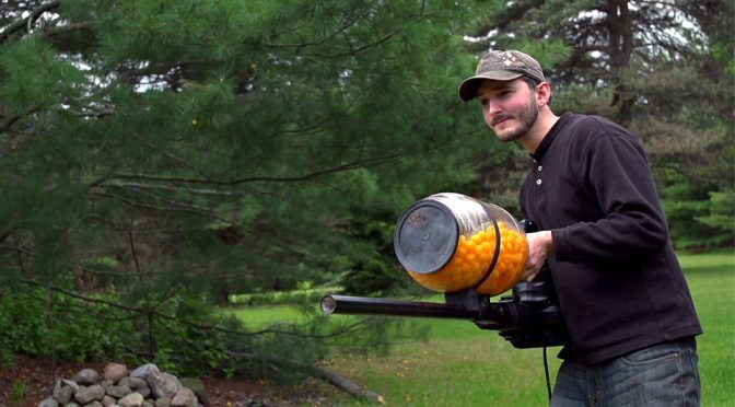 Cheese Ball Machine Gun Proves That Playing With Food Can Be Fun