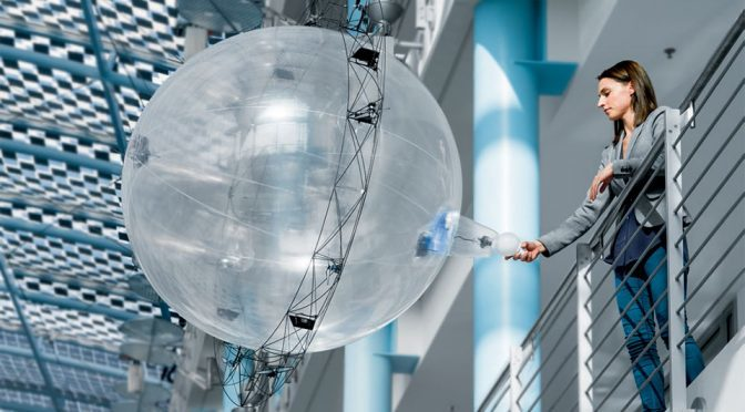 Free Motion Handling Autonomous Flying Gripper Ball by Festo