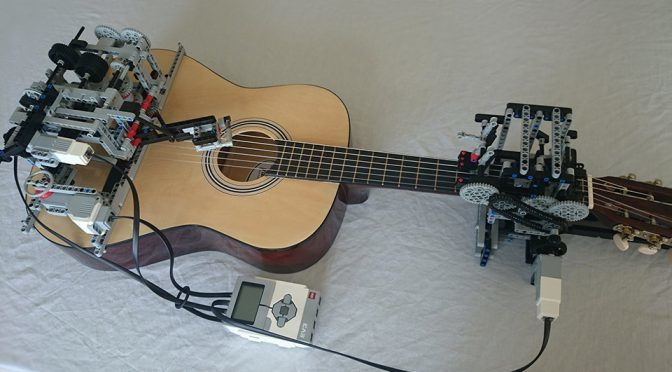 Guitar Playing LEGO Mindstorms Plays Of Monsters And Men's <em>Little Talks</em>