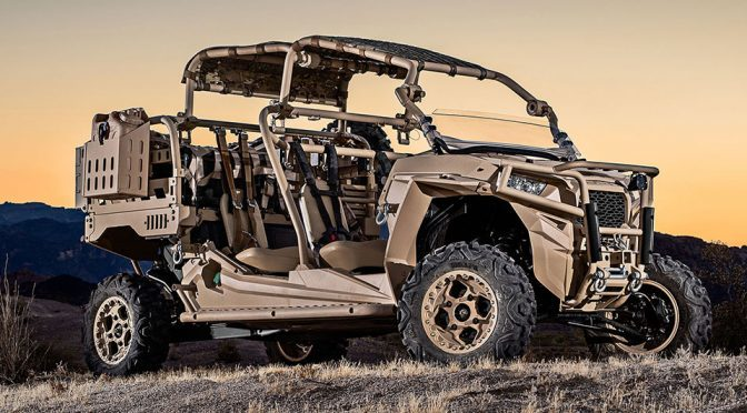 Polaris Unveils V22 Osprey-friendly Turbo Diesel MRZR Military Vehicle