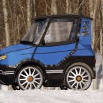 4-wheel Power-assist Electric Bicycle Looks Like A Real Life Car Caricature