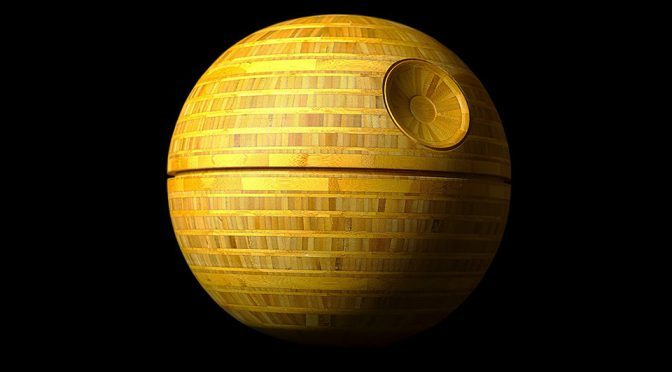 Wood Turned Bamboo Death Star by Frank Howarth